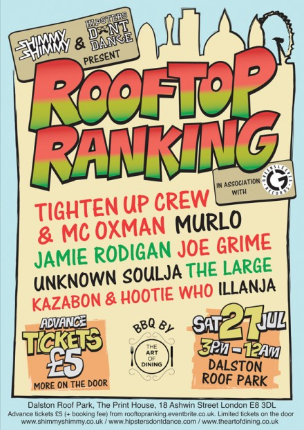 Hipsters Dont Dance Shimmy Shimmy Rooftop Ranking
