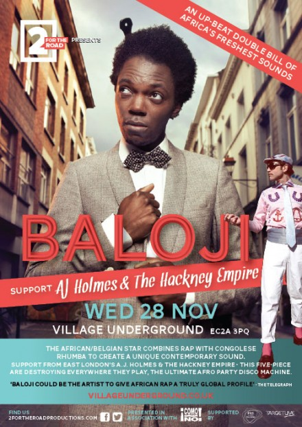win tickets to baloji & aj holmes & the hackney empire